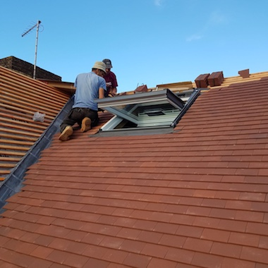 Roof repair in Oxted